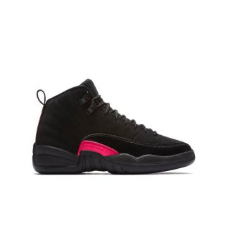 huge selection of 0c242 09ecf ... 2019 New Style Jordan Retro 12 Black Rush Pink Grade School Kids Shoe -  where to get cheap jordans that are real - S0216 ...