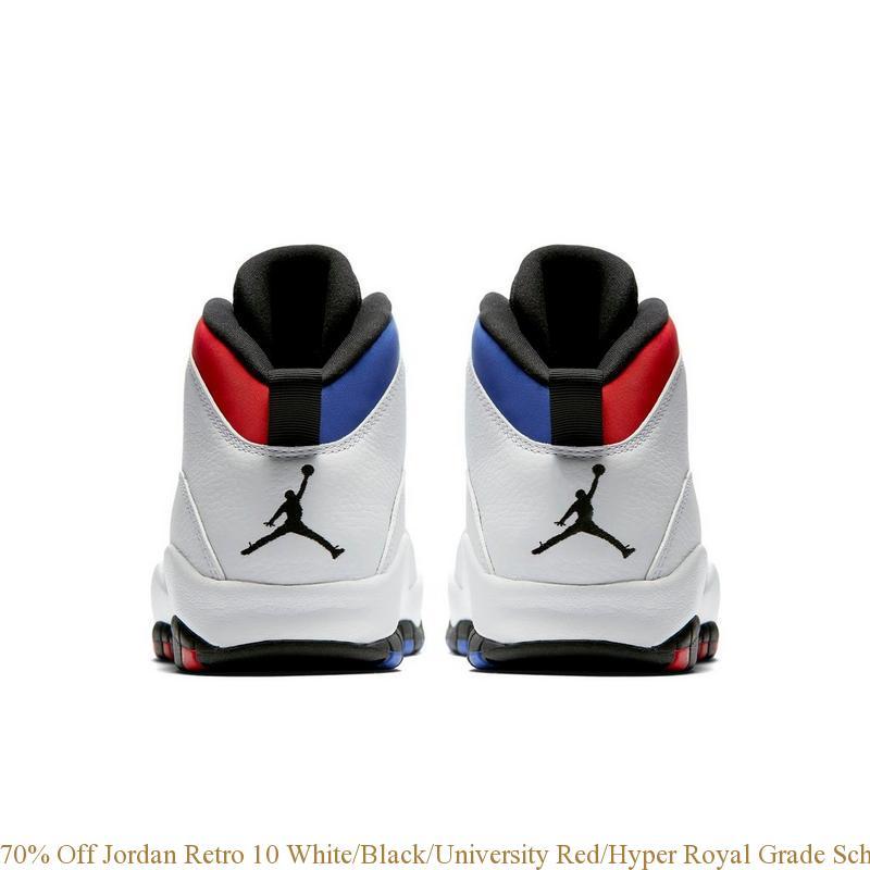 70% Off Jordan Retro 10 White Black University Red Hyper Royal Grade ... 142f9260a899