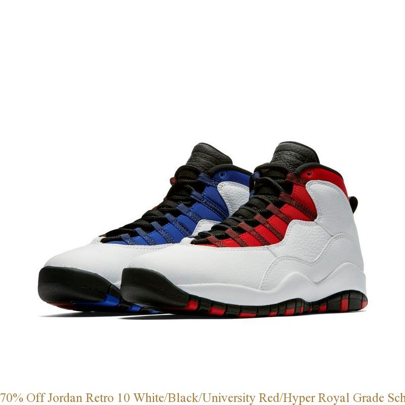 0faa0b71179fd0 70% Off Jordan Retro 10 White Black University Red Hyper Royal Grade ...