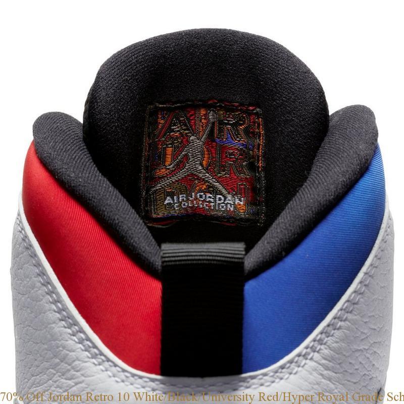 new styles d19b1 6b0f6 70% Off Jordan Retro 10 White Black University Red Hyper ...