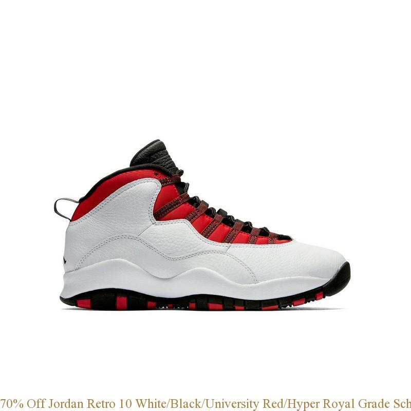 official photos 9247c 25944 70% Off Jordan Retro 10 White/Black/University Red/Hyper Royal Grade School  Kids Shoe - retro jordan shoes cheap - R0241