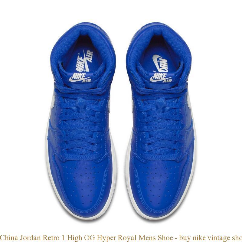 quality design a1964 317bb China Jordan Retro 1 High OG Hyper Royal Mens Shoe - buy nike vintage shoes  - Q0182