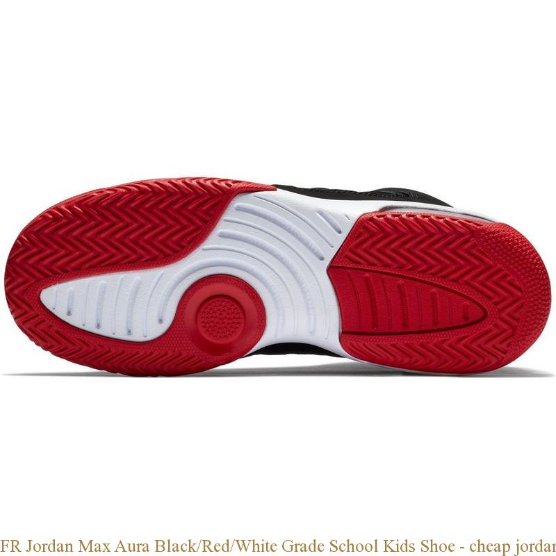 6e47eb2ece3d7 FR Jordan Max Aura Black Red White Grade School Kids Shoe – cheap ...