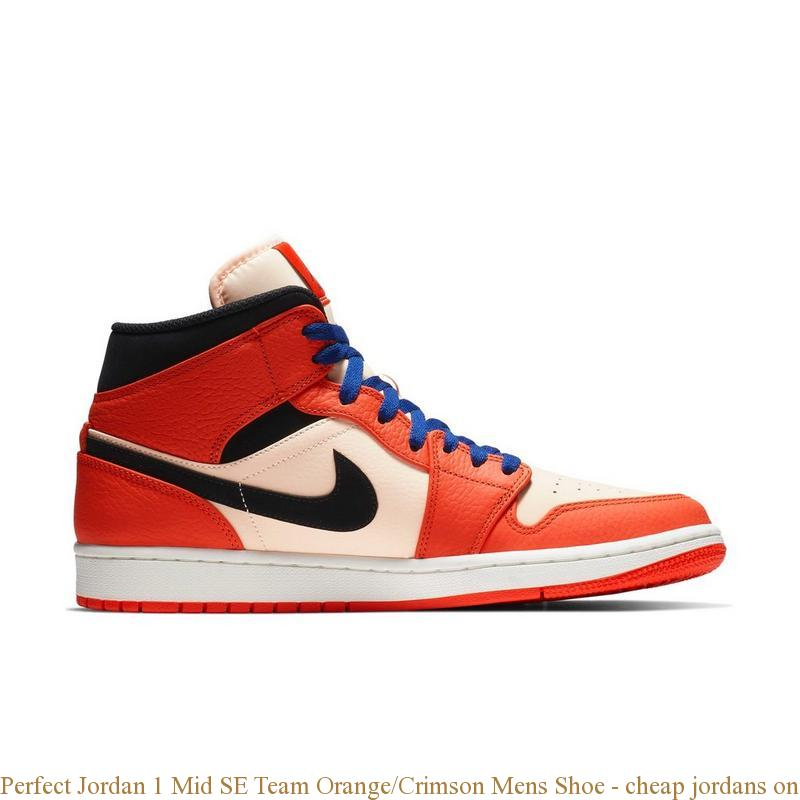 98c1882a351 Perfect Jordan 1 Mid SE Team Orange Crimson Mens Shoe – cheap ...