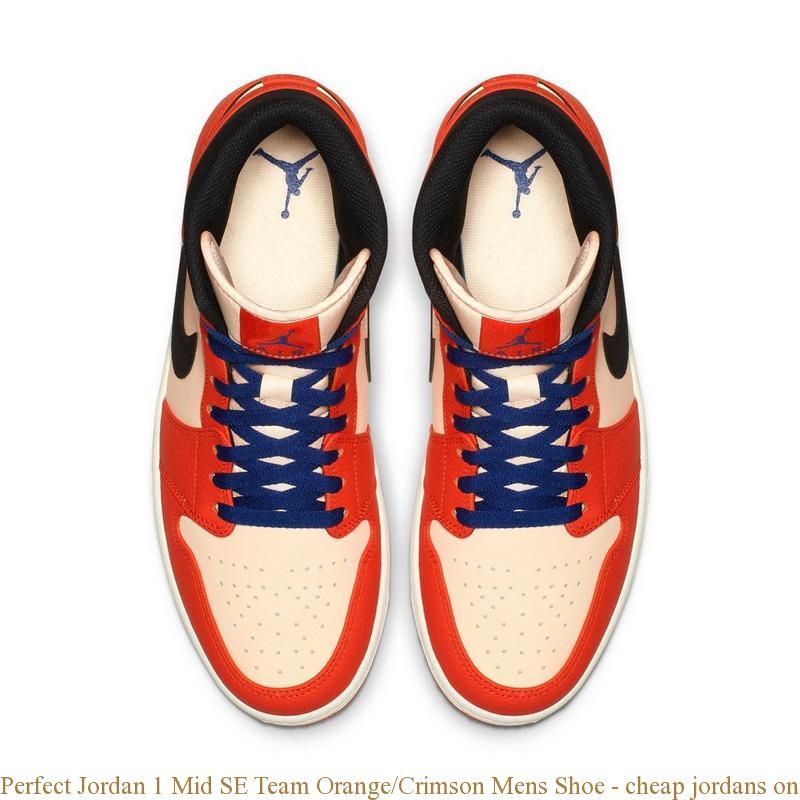 best service b14db c5cfc Perfect Jordan 1 Mid SE Team Orange/Crimson Mens Shoe - cheap jordans  online - Q0388