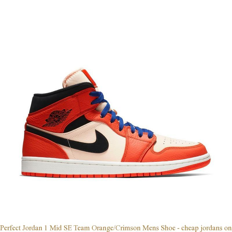 meilleur service d8840 1a138 Perfect Jordan 1 Mid SE Team Orange/Crimson Mens Shoe - cheap jordans  online - Q0388