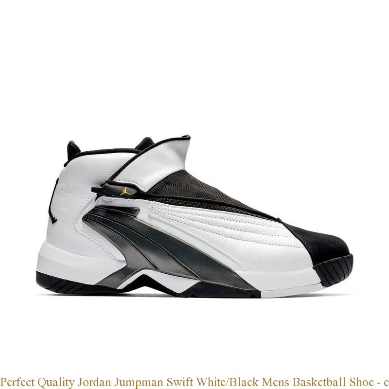 7935b3c803784e Perfect Quality Jordan Jumpman Swift White Black Mens Basketball ...